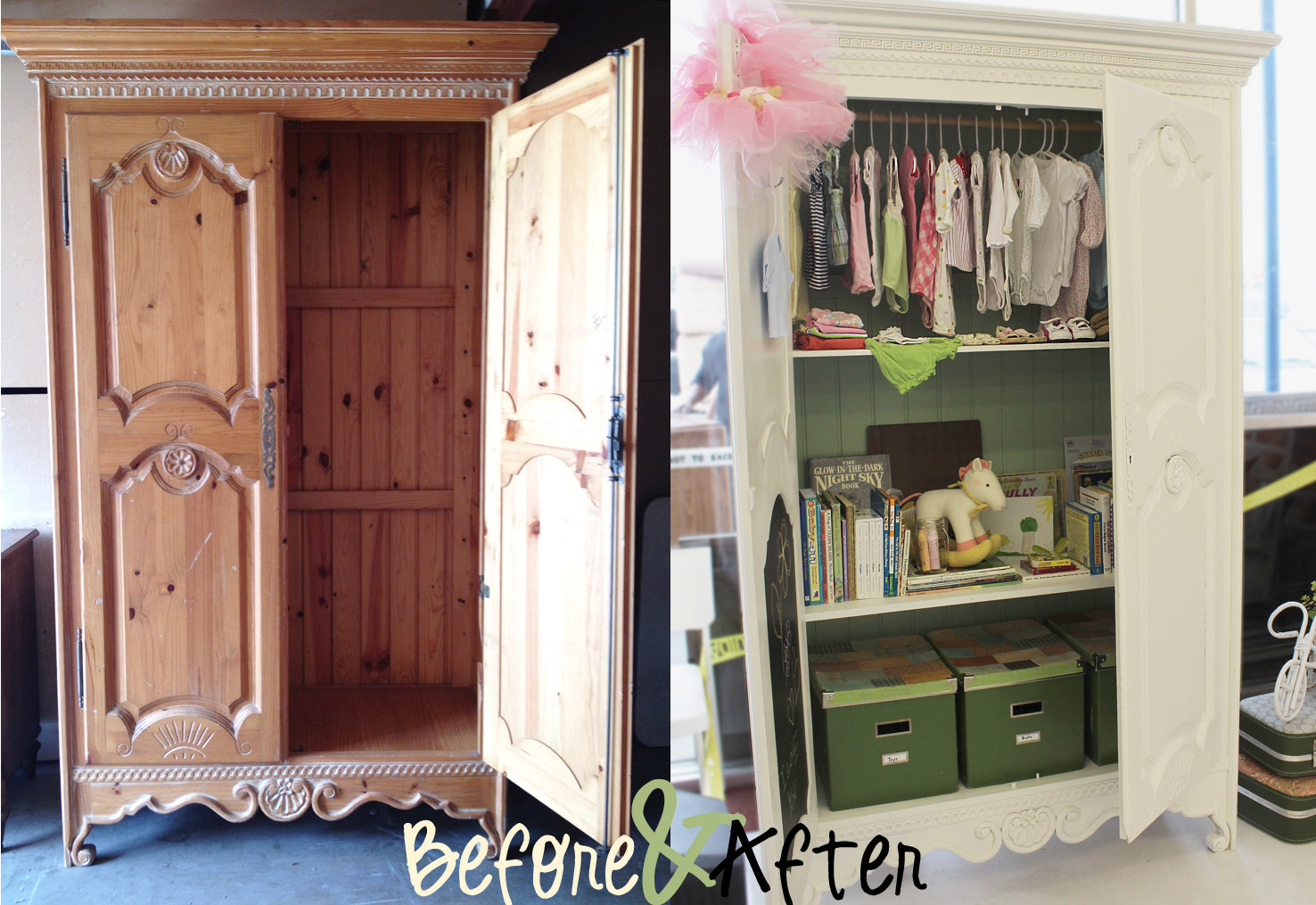 We Started With This Armoire Found At The Warehouse