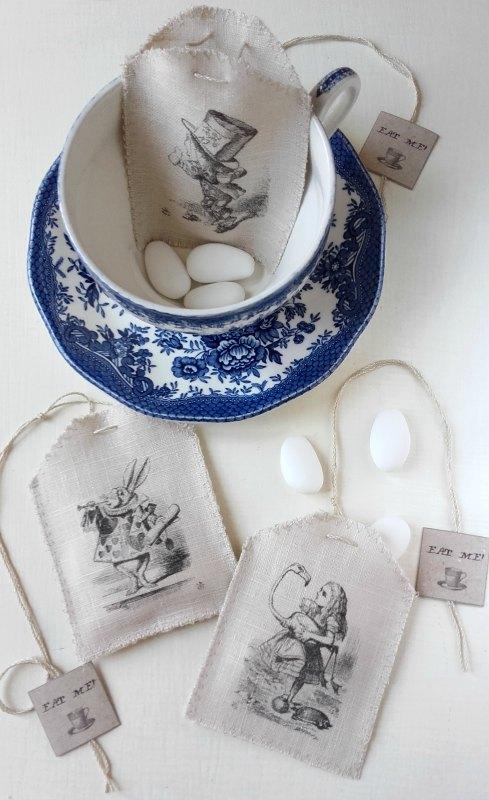 Sacchetti porta confetti Alice in Wonderland