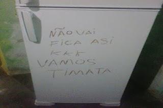 Na Zona Rural de Cuité bandidos deixam ameaça em porta de geladeira