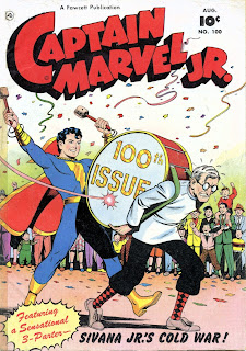 Captain MArvel Jr. 100 cover