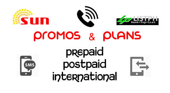List of Sun Prepaid, Call, Text, Combo, Data, Mobile Internet, Postpaid, Broadband & International Promos Plans 2017