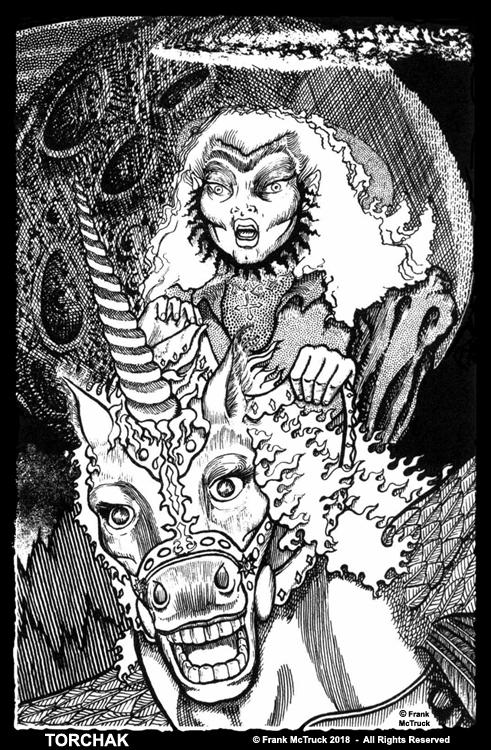 Frank McTruck comic book art 'Torchak'