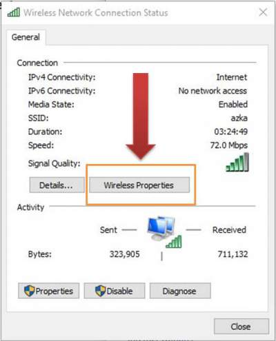 network status wifi di windows 10