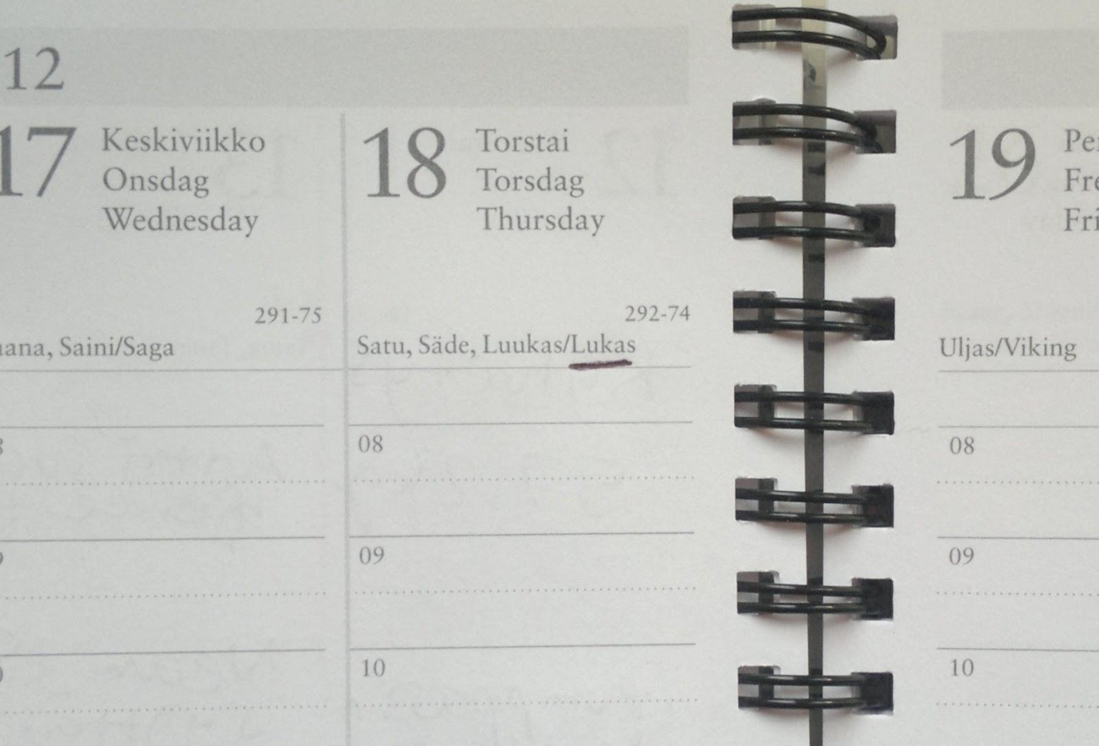 Nimipäivä 18.10