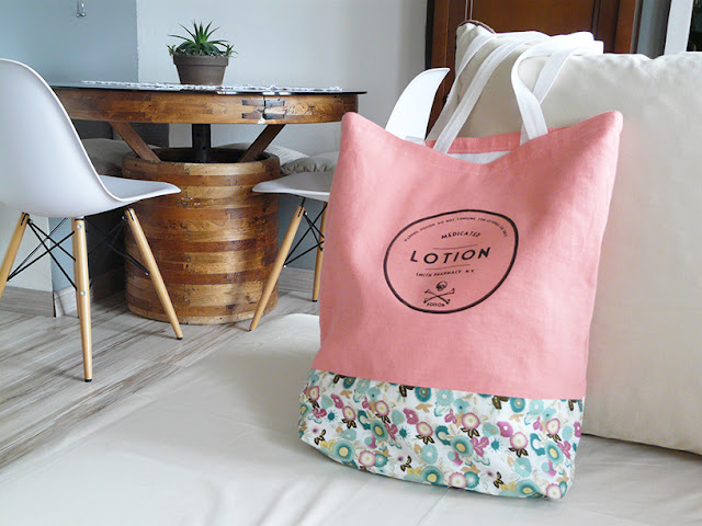Tote bag cousu main