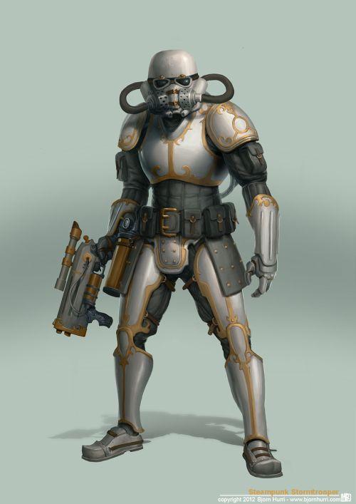 Bjorn Hurri ilustrações fantasia Star Wars steampunk Stormtrooper