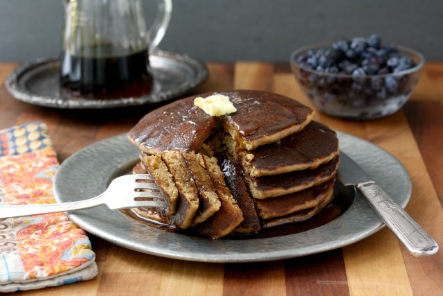 The best buckwheat pancake recipe. The texture is lovely, they aren't too thin (halfway between a crepe and a fluffy pancake), have a wonderful flavour and behave in the pan.