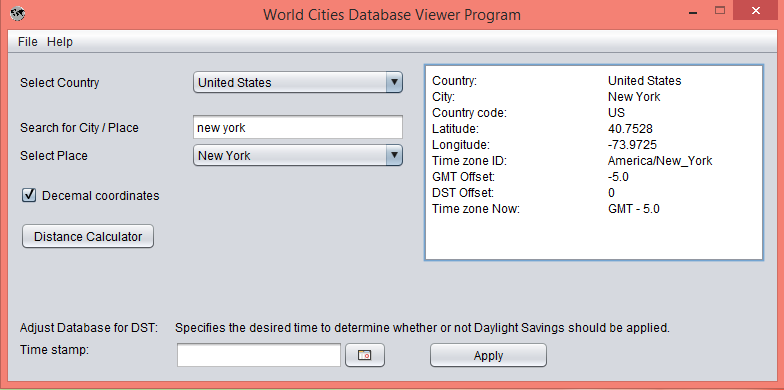 GeographicDB - World Cities Database with Latitude Longitude