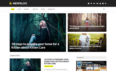NewsLog Blogger Template