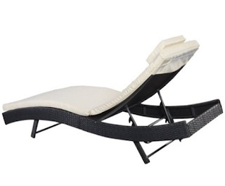 Tangkula Adjustable Pool Chaise Lounge Chair