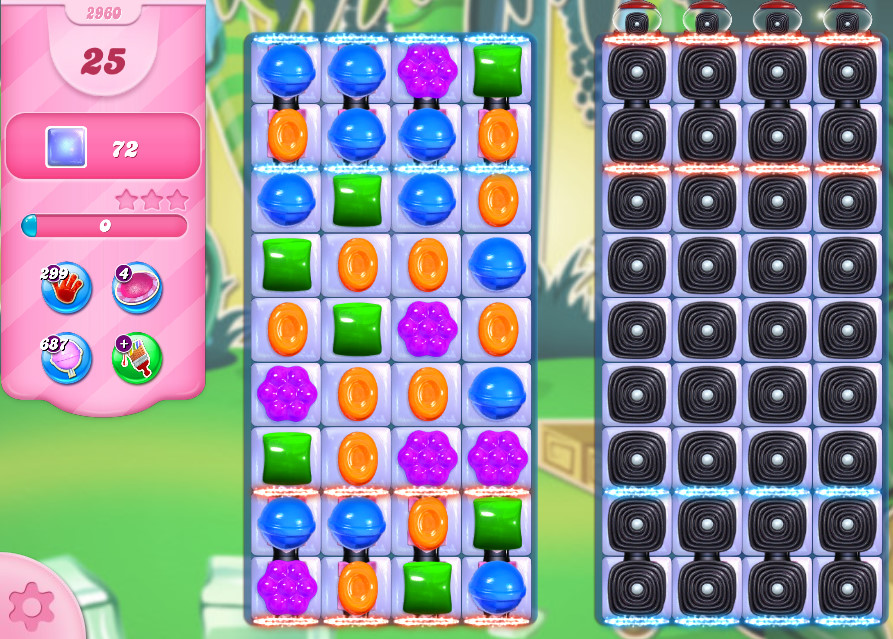 Candy Crush Saga level 2960