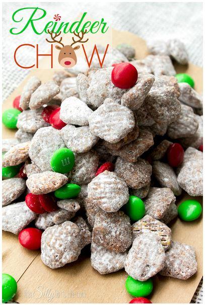 reindeer+chow+muddy+buddies 20 Festive Holiday Treats 57