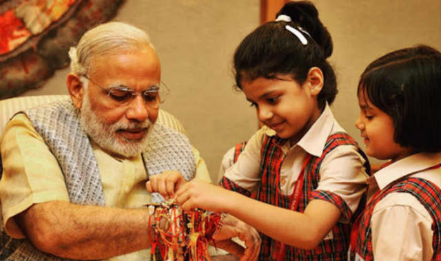 Happy Raksha Bandha 2017 Images from PM