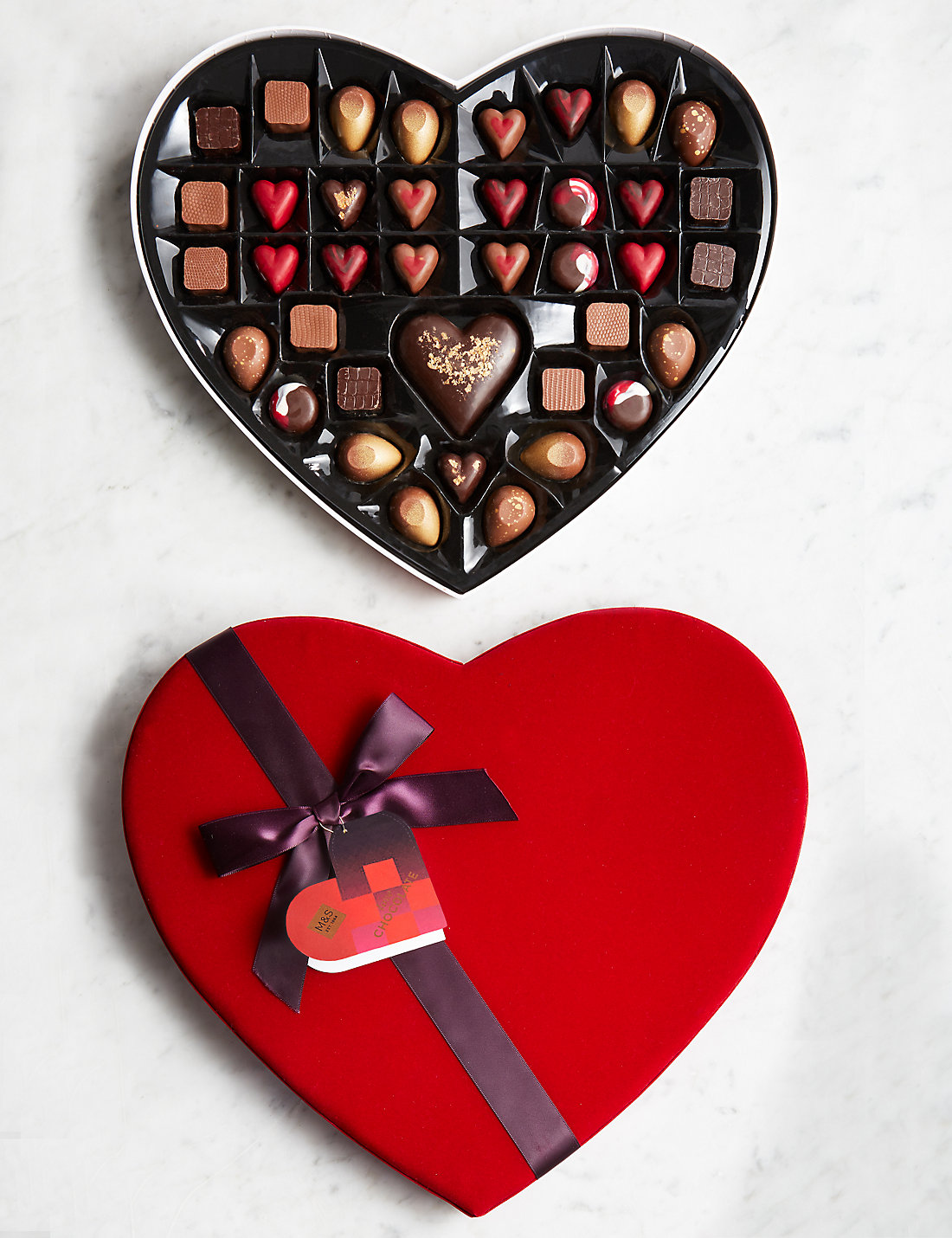 Satchel: M&S Large Heart Box Of Chocolates