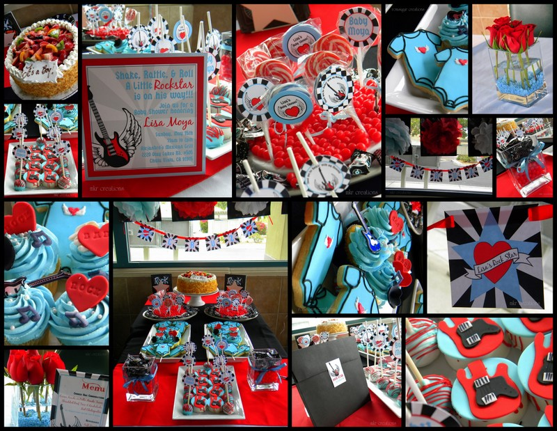 Rock N Roll Baby Shower Decorations
