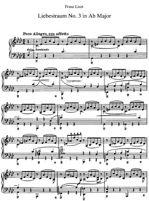 Partitur (Notation Music) Liebestraum By Franz Liszt Solo Piano