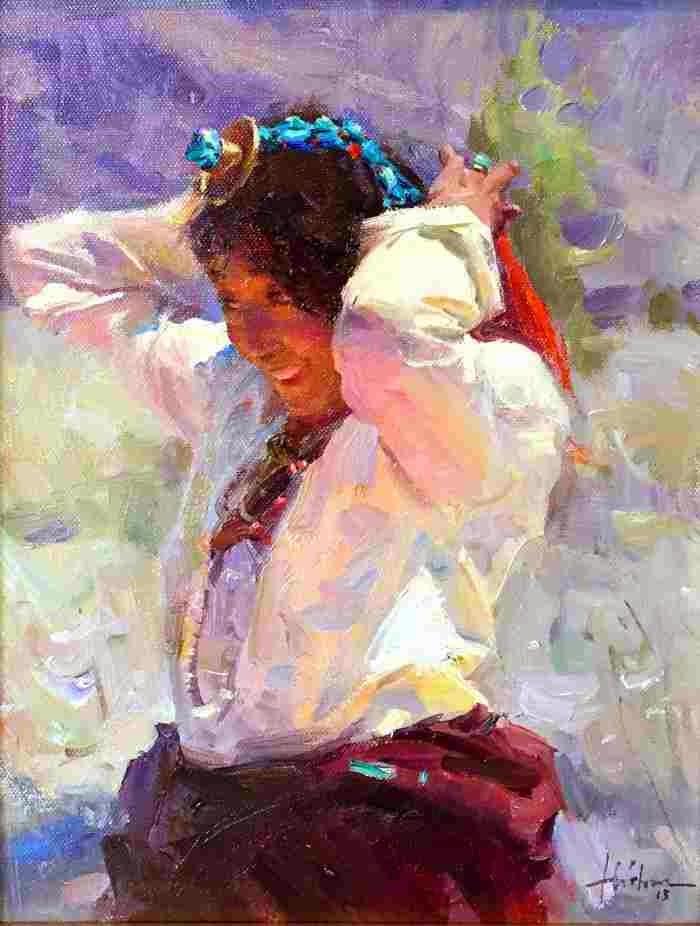 Китайский художник импрессионист. Huihan Liu