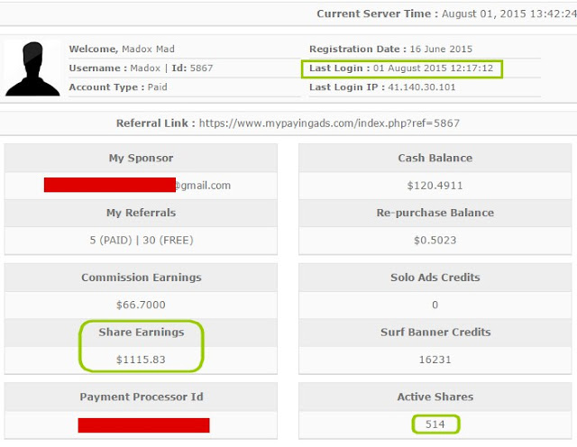 mypayingads latest payment proof