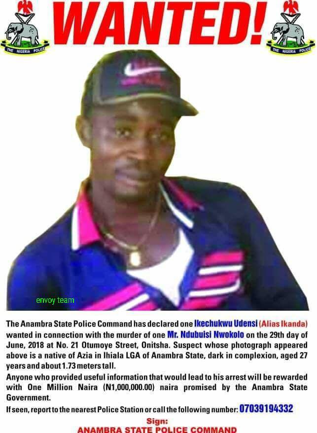 Anambra State Police Command Declares 'ikanda' Wanted For