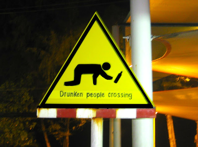 Drunken people crossing in Phuket