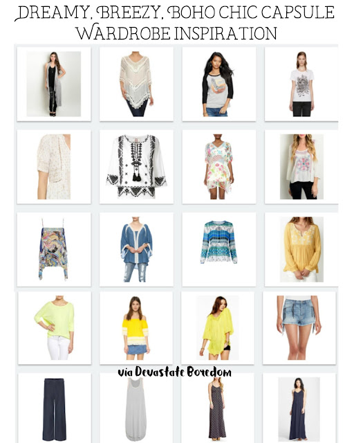 Love the boho look!  So cool to see a capsule in this style... How to Create a Dreamy, Breezy, Bohemian Capsule Wardrobe - Minimalist Fashion Inspirational Ideas - Deciding Your Personal Style and Figuring Out A Capsule Wardrobe! via Devastate Boredom