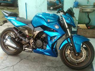 modifikasi motor byson terbaik warna biru