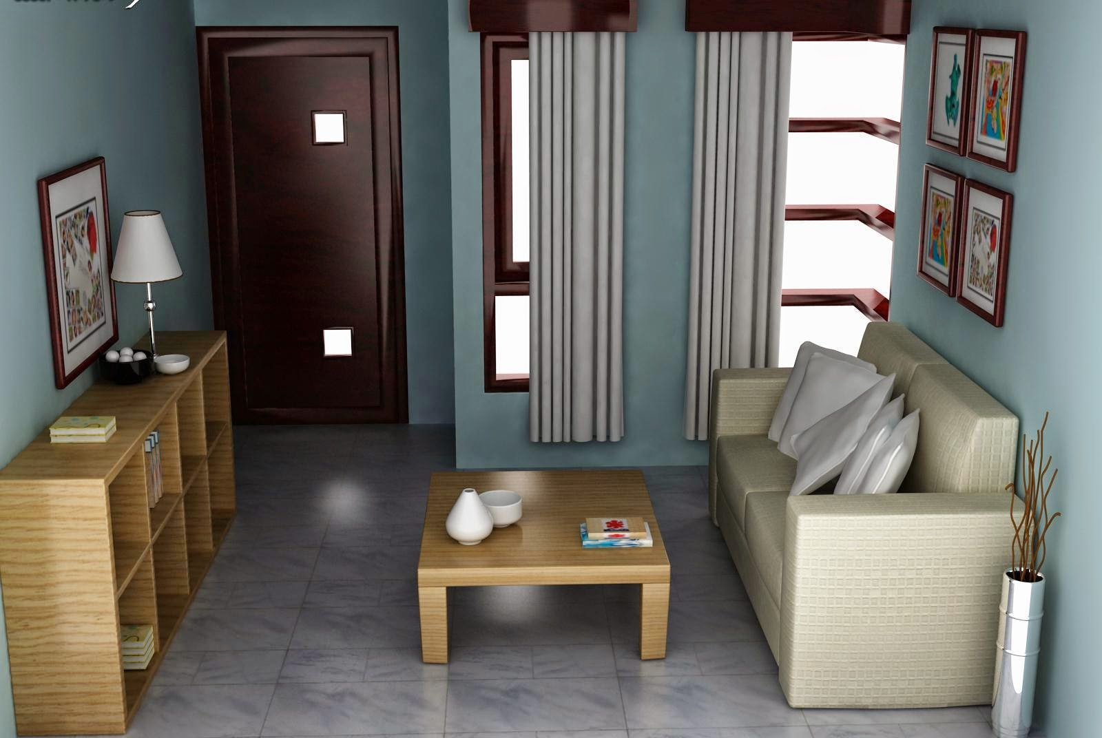 Desain Ruang Tamu Untuk Rumah Minimalis Tipe 45 Full Woods