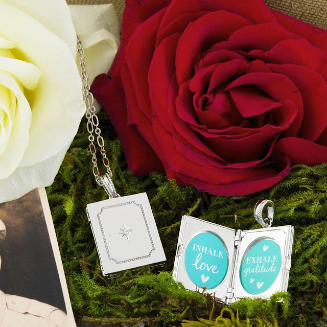 Silver Gratitude Locket by Origami Owl available at StoriedCharms.com