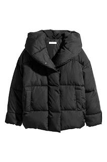 Veste matelassée capuche noir H&M