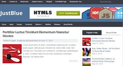 Just Blue - Simple Responsive Wordpress Themes