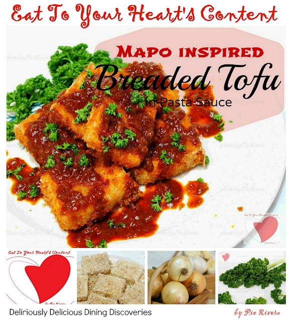 Mapo Inspired Breaded Tofu in Pasta Sauce