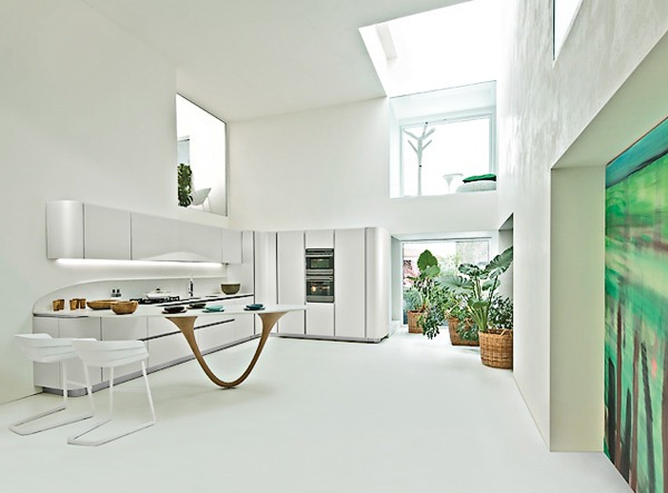 Hari yang indah untuk kembali membahas perihal desain dapur manis Desain Dapur Sederhana Berwarna Putih Mengkilap