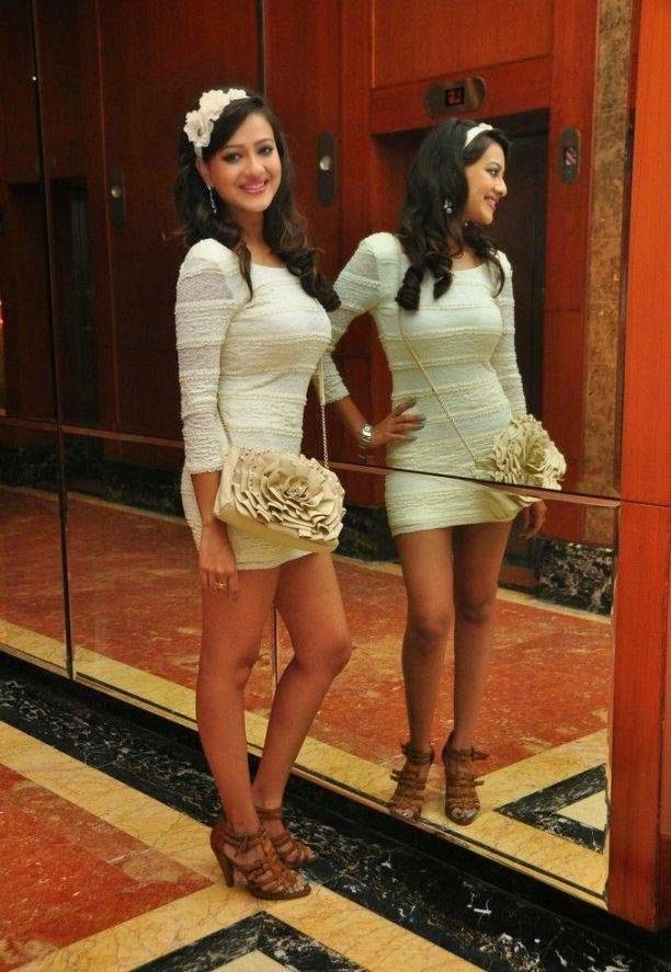 madalasa sharma hot photo in tight white dress, Actress Madalasa Sharma White tight Dress Hot Photos