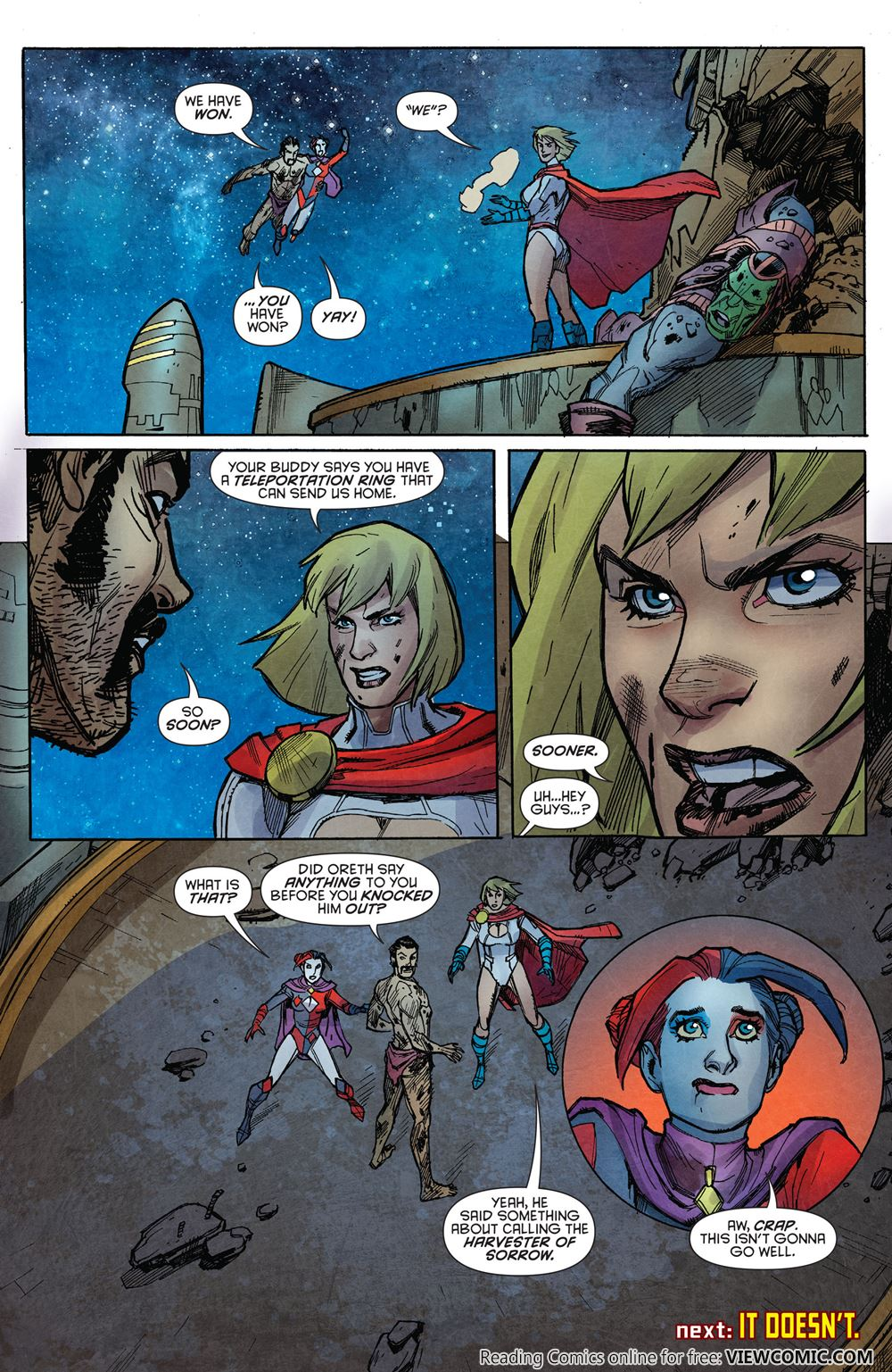 harley quinn and power girl viewcomic reading comics online for