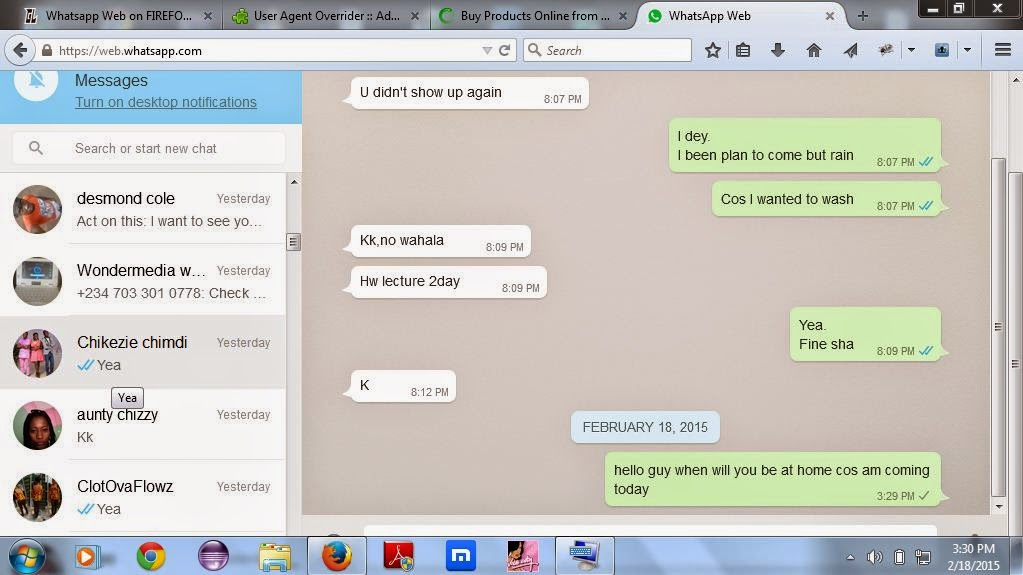 WhatsApp Web chat slicer - Processing 2 x and 3 x Forum
