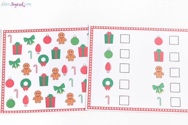 Weihnachtsbrettspiel (Arbeit an Buchstaben, Zahlen, Sichtwörtern und mehr!)