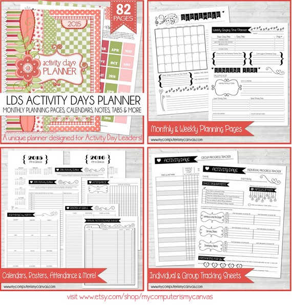 My Computer Is My Canvas: Free Printable Activity Day Progress Tracker