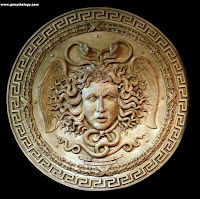 Medusa head in Greek mythology