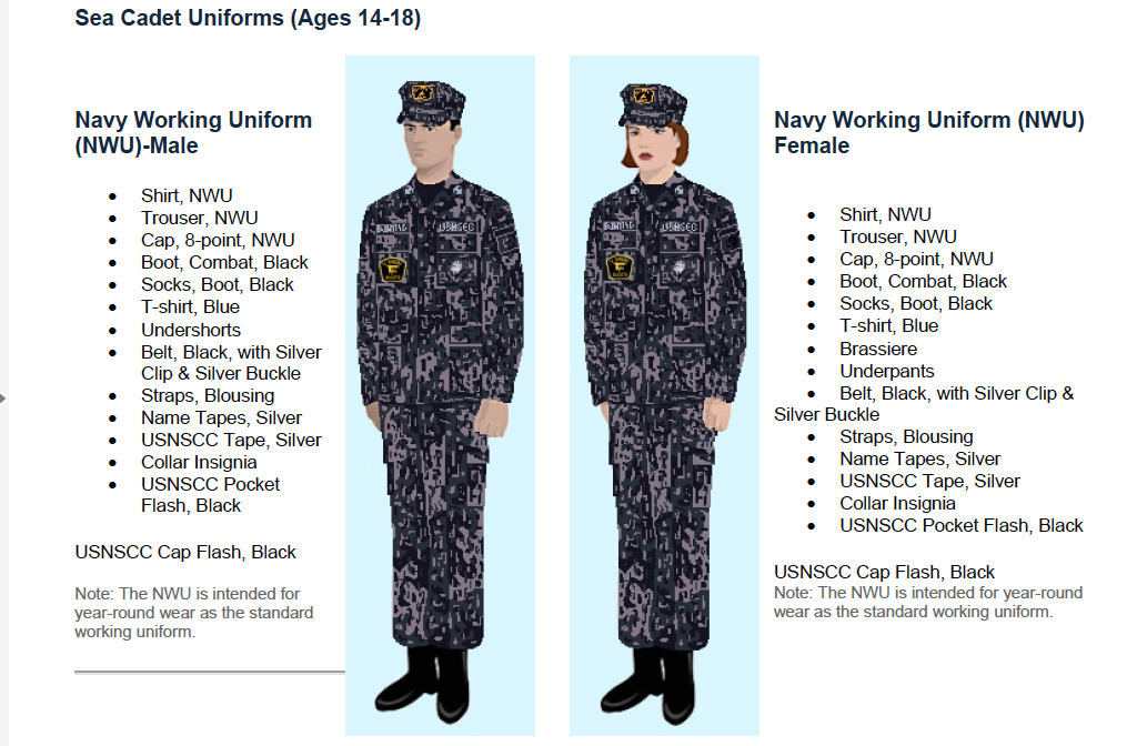 Sea Cadet Uniform Regulations 19