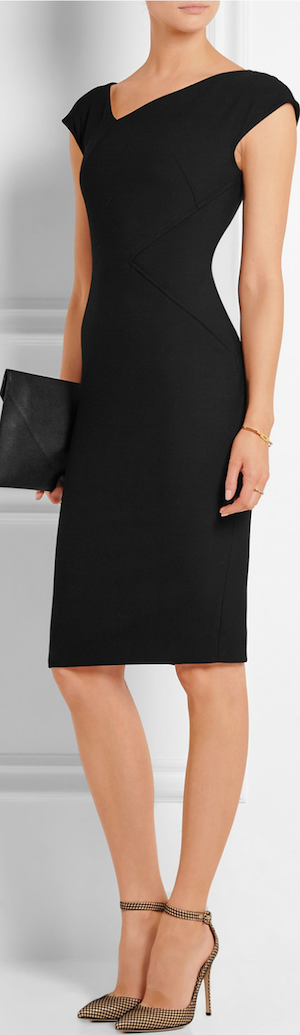 ROLAND MOURET Darlington Stretch-Crepe Dress