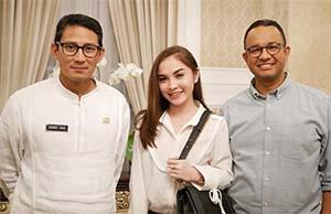 Elina Joerg Bersama Gubernur dan Wakil Gubernur Jakarta