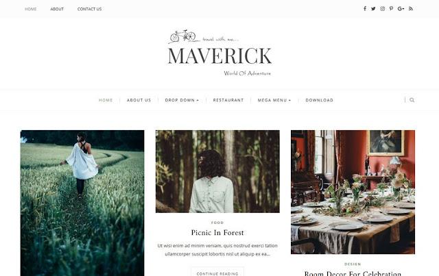 Blogger Template Maverick Portfolio Responsive Gratis | eaweo.com
