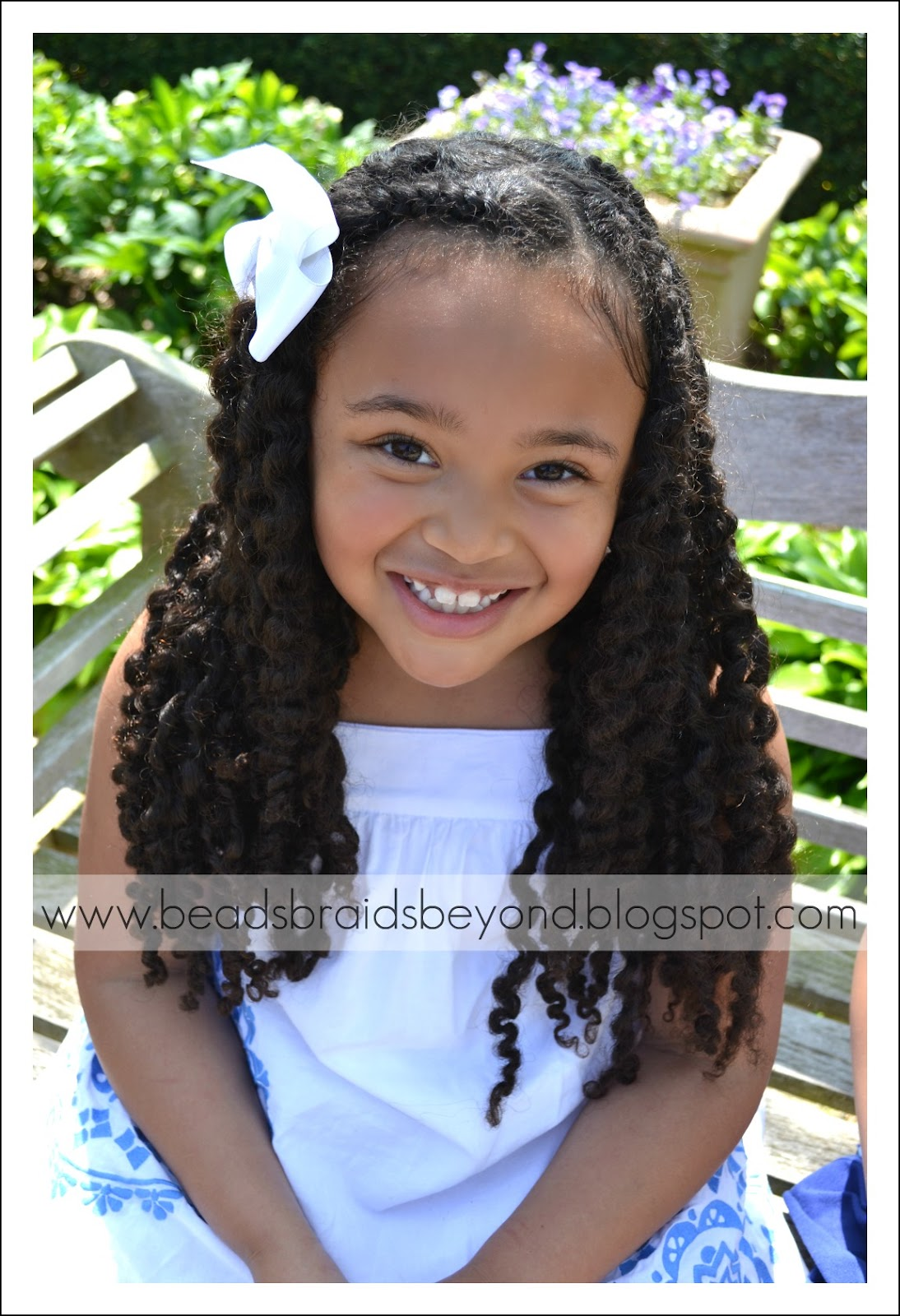 ... Little Girls Natural Hairstyles: Twist Out's + Puff with Twisted Bang
