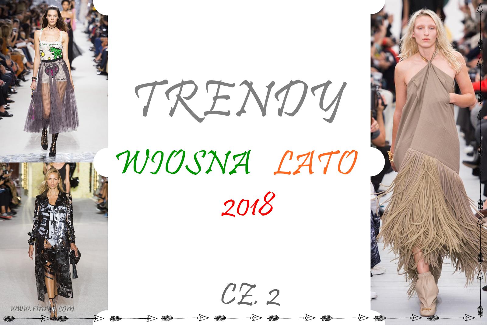 Trendy wiosna/lato 2018: cekiny, plastik, siatka, jeans, frędzle