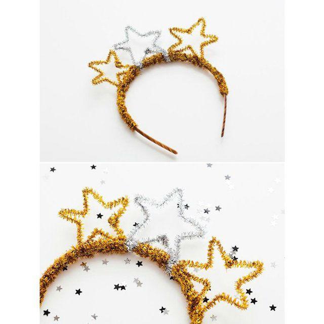 corona de estrellas, 8 diy con limpiapipas para navidad
