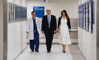 Trump visita sobrevivientes de masacre en Florida; FBI admite fallas