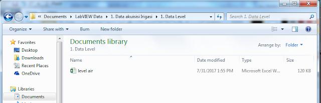 Gambar 4 20 Letak Folder penyimpanan Hasil Akuisisi data 2