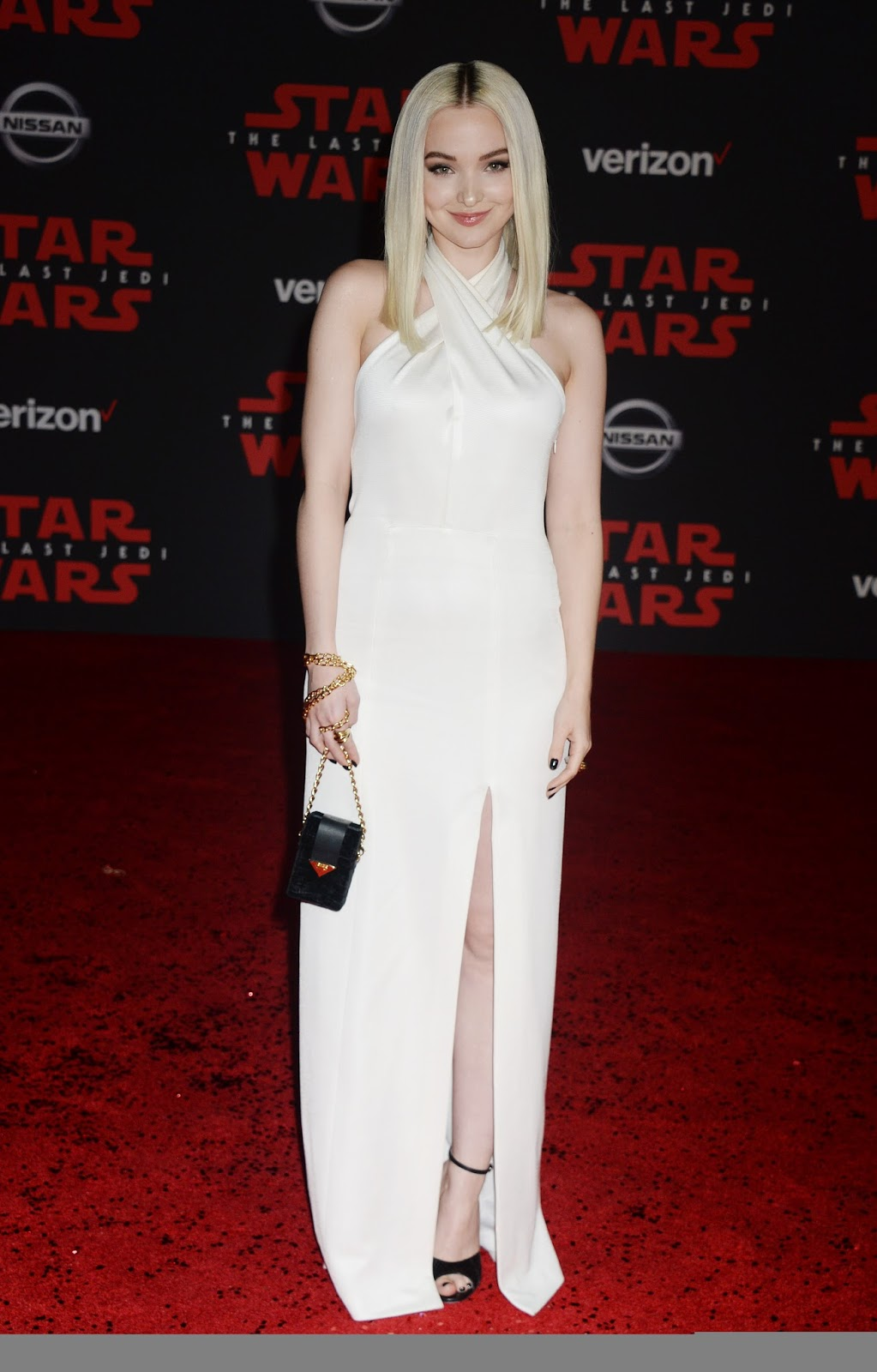 Dove Cameron on the Red Carpet of the 'Star Wars The Last Jedi' premiere in Los Angeles