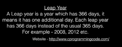 Leap Year Program in C, C++