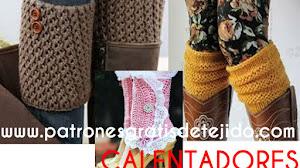 Polainas o Calentadores para tejer a crochet y a dos agujas / tutoriales